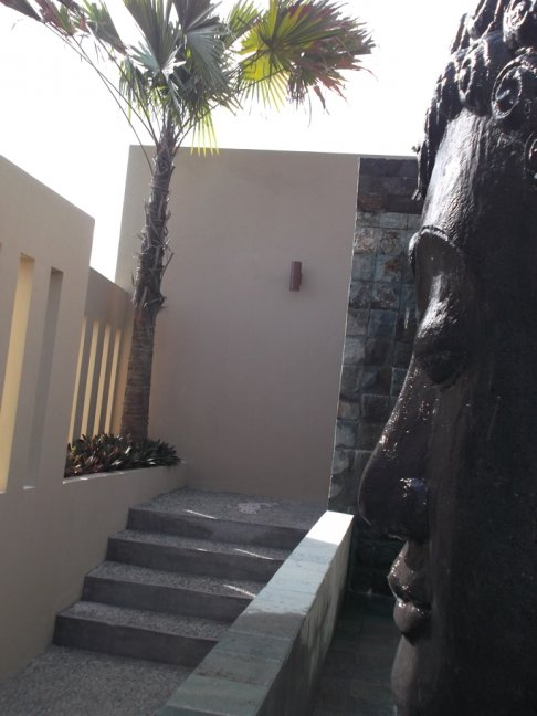 Stairs to villa