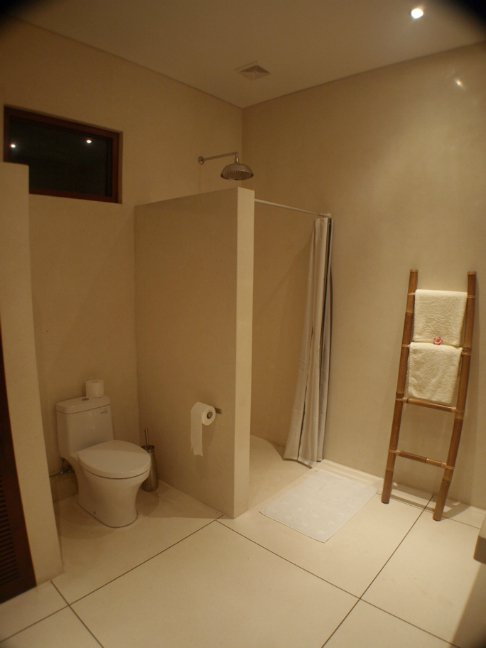 Bathroom at the back